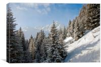 Courchevel 1850 3 Valleys Alps France, Canvas Print