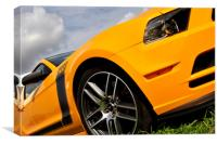 Ford Mustang Classic American Motor Car, Canvas Print