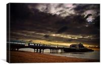 Bournemouth Pier Beach Dorset England, Canvas Print