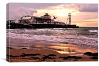Bournemouth Pier Beach Dorset, Canvas Print