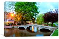 Bourton on the Water Cotswolds Gloucestershire, Canvas Print