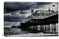 Brighton Pier amidst the storm, Canvas Print