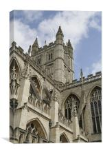 Cathedral in Bath, Canvas Print
