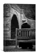 lonely old lady, Canvas Print