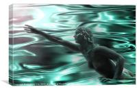 Water nymph, Canvas Print