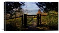 Gateway to the countryside, Canvas Print