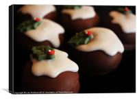 Christmas Puds, Canvas Print