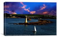 Leaving Plymouth Sound, Canvas Print