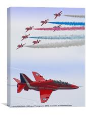 The Red Arrows - Farnborough 2012, Canvas Print