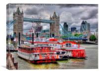 Tower Bridge From Butlers Wharf Revisited, Canvas Print