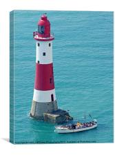 Boat Trip to Beachy Head Lighthouse, Canvas Print