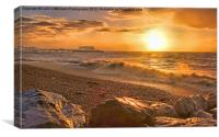 Worthing Beach Sunrise 3, Canvas Print
