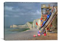Seven Sisters And The Birling Gap, Canvas Print