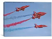 The Red Arrows - Duxford Spring Airshow 2013, Canvas Print