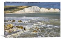 Breaking Waves - The Seven Sisters, Canvas Print