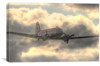 The Douglas C-47 Skytrain, Canvas Print