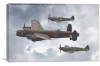 The Battle Of Britain Memorial Flight - Shoreham , Canvas Print