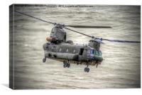 Chinook as Seen From Beachy Head - Airbourne 2014, Canvas Print