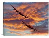 Out Of The Sunset - The 2 Lancasters 1, Canvas Print
