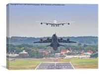 Airbus Frenzy - Farnborough 2014, Canvas Print