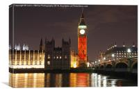 Westminster Skyline Falling Poppies , Canvas Print