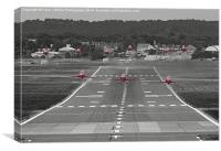 The Red Arrows Take Off - Wheels Up, Canvas Print