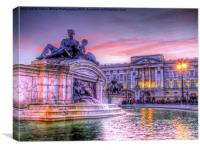 Buckingham Palace at Sunset 1, Canvas Print
