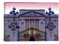 Buckingham Palace at Sunset 3, Canvas Print