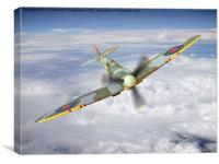 Spitfire In The Clouds 2, Canvas Print