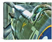 Spitfire MH434 Reflections, Canvas Print