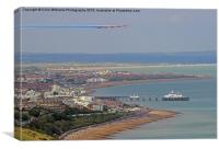 Red Arrows Eastbourne 4, Canvas Print