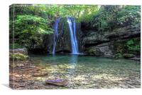 Janets Foss 1 - North  Yorkshire, Canvas Print