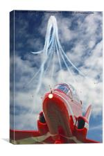 The Red Arrows - Eastbourne 2015, Canvas Print
