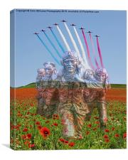 BOB 75  The Red Arrows Salute The Few, Canvas Print