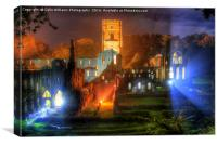 Fountains Abbey Yorkshire Floodlit - 2, Canvas Print