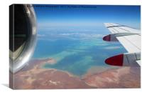 Shark Bay From the Air, Canvas Print