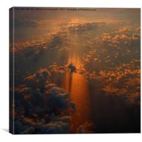 Sunset  at 32000 feet  2, Canvas Print
