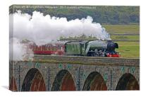Flying Scotsman At The Ribblehead Viaduct 2, Canvas Print