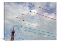The Red Arrows Arrive At Blackpool 2017, Canvas Print