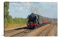 The Flying Scotsman At Church Fenton 1, Canvas Print