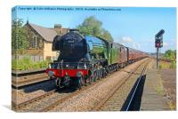 The Flying Scotsman At Church Fenton 2, Canvas Print