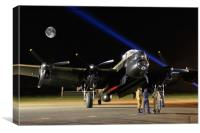 Just Jane A Bombers Moon, Canvas Print