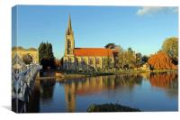 All Saints Church Marlow, Canvas Print