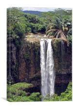 Chamarel Waterfalls, Canvas Print