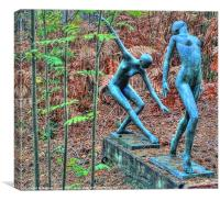 Ballet in the Woods, Canvas Print