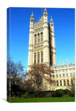 Westminster Palace, Canvas Print