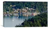 BRENTWOOD BAY vancouver island BC canada, Canvas Print