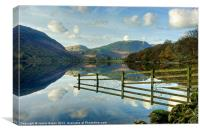 Fence Reflections In Buttermere, Canvas Print
