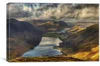 The View From Fleetwith Pike, Canvas Print