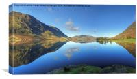Crummock Water Panorama, Canvas Print